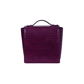 LADY SQUARE FLAP FW - PLUM