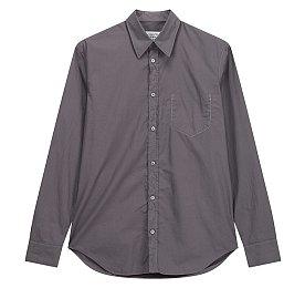 포켓 라인 스티치 코튼 셔츠