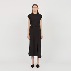 Evelyn Asymmetric Silk Dress