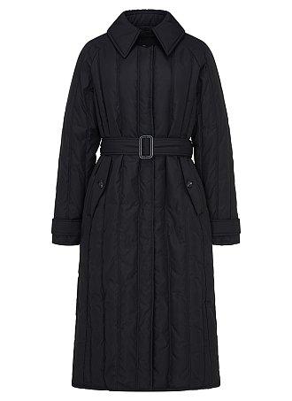 트렌치 퀼티드 구스다운 코트