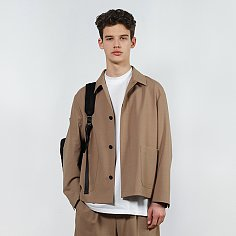 [IEY]HIDDEN SHIRTS JACKET(Brown)