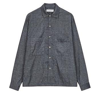 [COOL] 수입 원단 오버핏 투포켓 셔츠