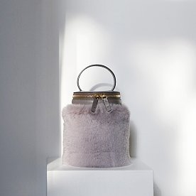 DETACHABLE FUR CYLINDER - ASH PLUM