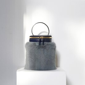 DETACHABLE FUR CYLINDER - NAVY