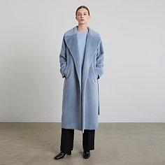 LEILAN COAT, SKYBLUE