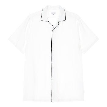 배색 파이핑 레이온 셔츠 (FERDINANDO)