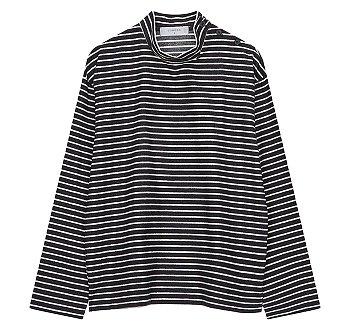 [CHIC] 하프넥 스트라이프 져지 티셔츠