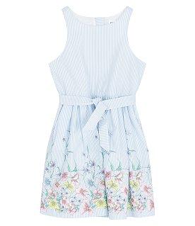 ★갭키즈 19년 SPRING★ [키즈 여아 6-14세] 스트라이프 플라워 슬리브리스 드레스