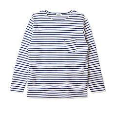 L/S Basque Shirt Blue 버거스 플러스 바스크 셔츠
