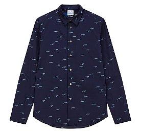[PS PAUL SMITH]치타 패턴 슬림핏 캐주얼 셔츠