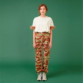 CAMOUFLAGE PRINT CARGO PANTS