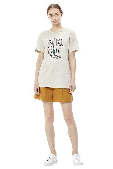 [19 SUMMER CAPSULE]입체 그래픽 반팔 티셔츠 코디배너