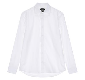 스판 와이드 화이트 셔츠
