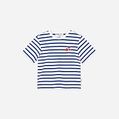 NOTE STRIPED KIDS TEE-BLUE