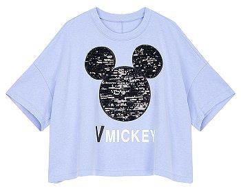 [V MICKEY] 미키 스팽글 그래픽 티셔츠