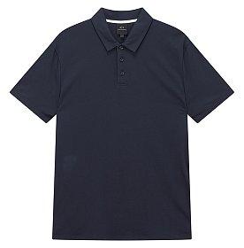 사이드 로고 라인 카라 티셔츠