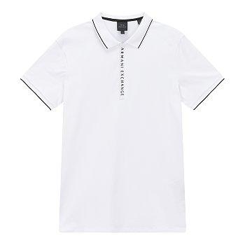 라인 포인트 카라 티셔츠