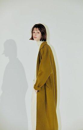 Clo long handmade coat – OLIVE