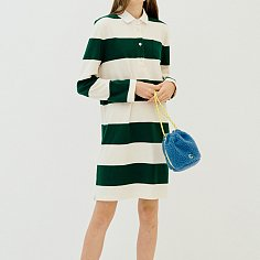 Stripe Rugby Dress _Women