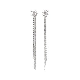 Joli Dazzle Chain Drop Earrings_SILVER