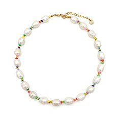 PREORDER-Rainbow pearl necklace