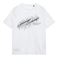 스티치 앤 레터링 로고 티셔츠