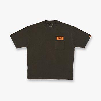 WAPPEN LOGO T-SHIRTS OLIVE 유니버셜 오버롤 와펜 로고 티셔츠