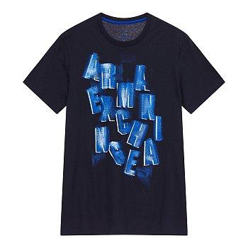 남성 레터링 로고 플레잉 그래픽 티셔츠