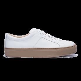 blucher 01 leather clay white