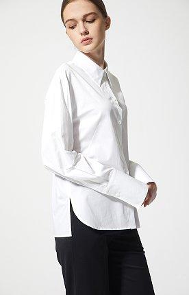 와이드 커프스 코튼 셔츠