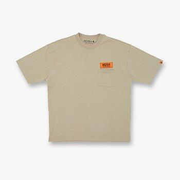 WAPPEN LOGO T-SHIRTS BEIGE 유니버셜 오버롤 와펜 로고 티셔츠