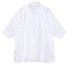 와플 배색 루즈핏 셔츠