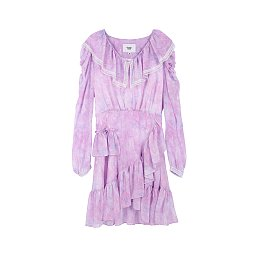 [아이유 착용] MABLING RUFFLE MINI DRESS - PURPLE
