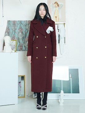 Wool Army Coat [WINE]