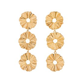 Joli Flare 3 Layers Earrings_GOLD