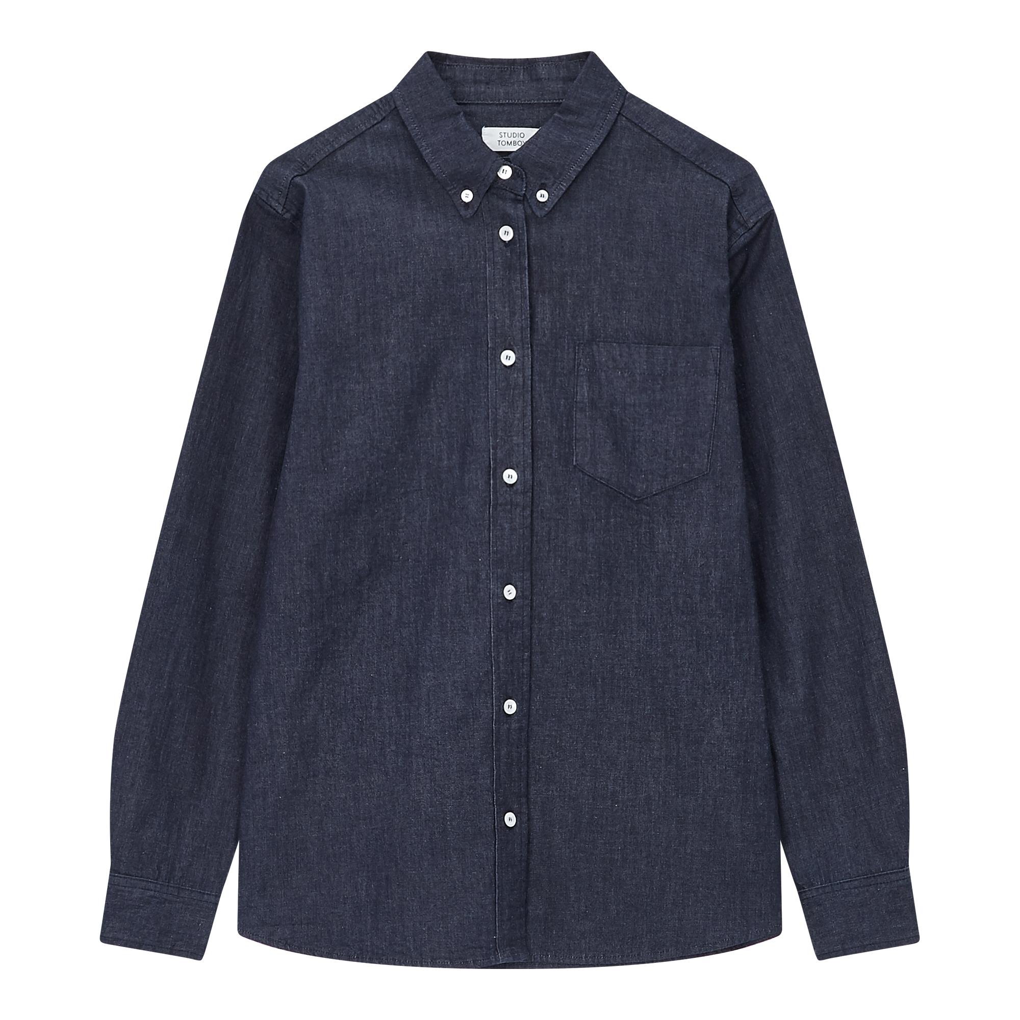 [10MONTHS] 원포켓 데님셔츠