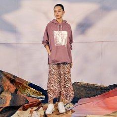 Double Layer Chiffon Skirt (Pink Leopard)