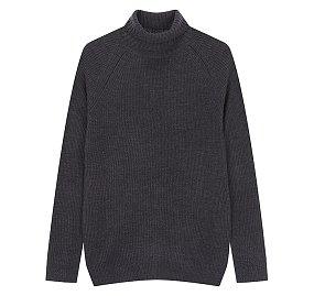 솔리드 터틀넥 스웨터