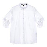 커프스 장식 코튼 셔츠