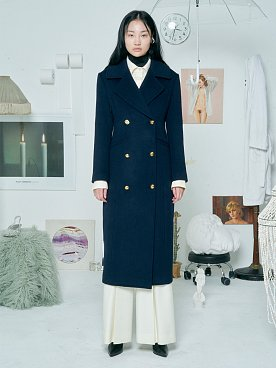 Wool Army Coat [NAVY]