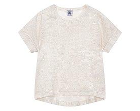 [키즈 여아] 글리터 롤업 언발 티셔츠 [3-12세]