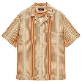 ★문빈 착용★ [MEN] 오픈카라 스트라이프 셔츠