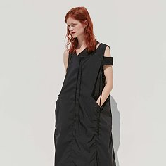 STRING DRESS - BLACK
