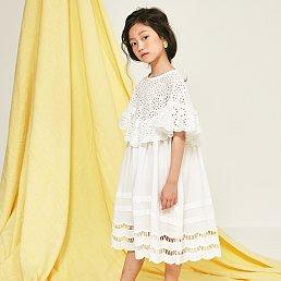 Love Eyelet Dress [White]