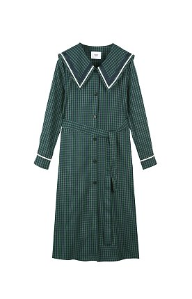 CHECK SHIRTS DRESS - GREEN