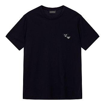 페이스 이글 패치 반팔 티셔츠