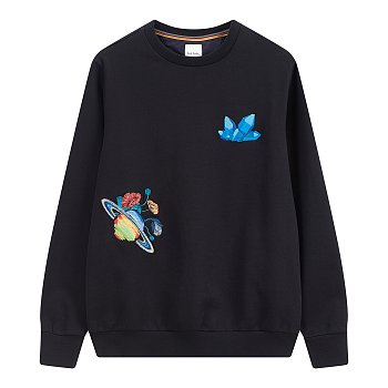 멀티 자수 맨투맨 티셔츠