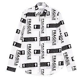 시그니처 패턴 코튼 셔츠