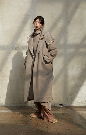 DOUBLE QUILTED PADDING COAT [COCOA]