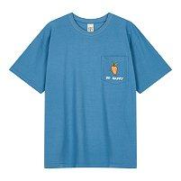 [NND][x ALEX] 콜라보 당근 자수 포켓 블루 티셔츠